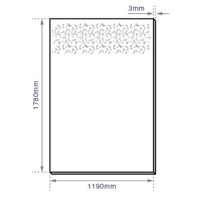 Privacy Garden Screen - Aluminium - Dimensions
