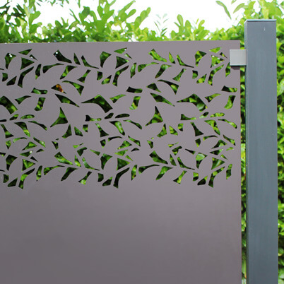 Privacy Garden Screen Kit - Powder Coated Aluminium