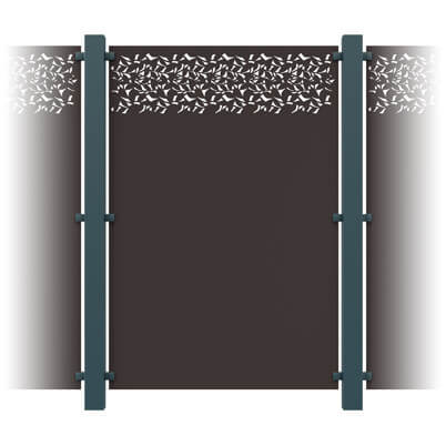 Privacy Decorative Garden Screen Kit - Aluminium
