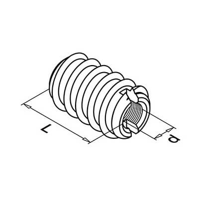 Rampa Muffle Screw Insert Diagram