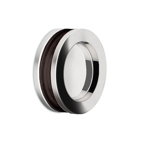 Recessed Door Grip - Circular - Chrome