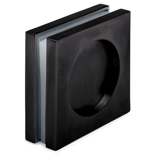 Recessed Door Grip - Square - Anthracite Finish
