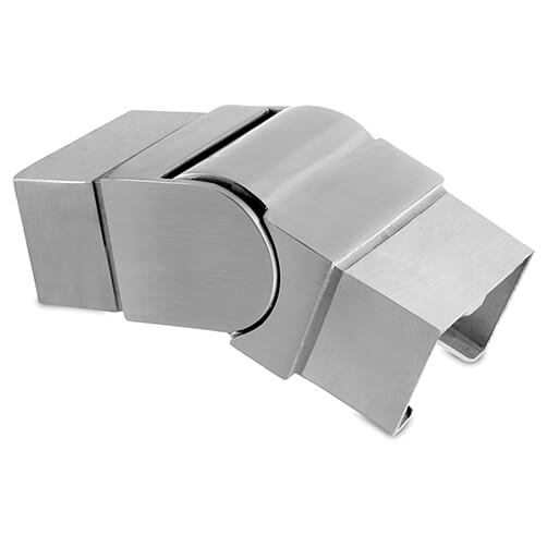 Rectangular Downward Adjustable Handrail Connector For Glass Channel Balustrade