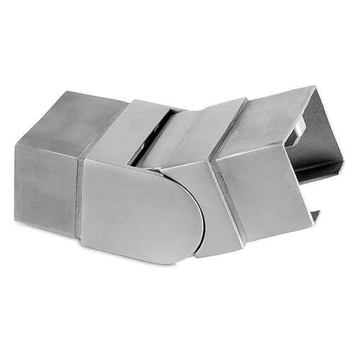Rectangular Upward Adjustable Handrail Connector For Glass Channel Balustrade