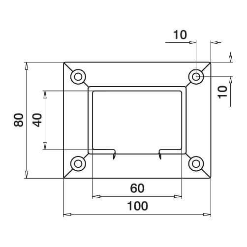Rectangular Wall Flange - Dimensions