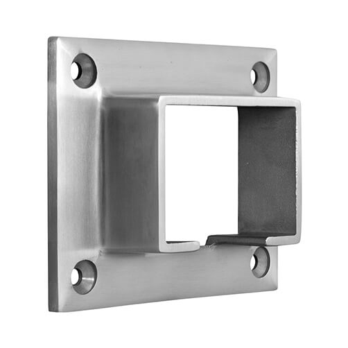 Rectangular Wall Flange For Glass Channel Balustrade