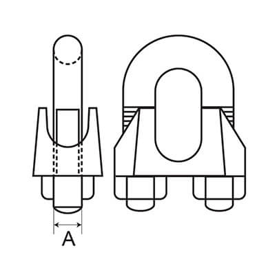 Wire Rope Grip - Dimensions