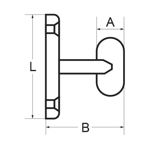 Robe Hook - T Shape - Dimensions