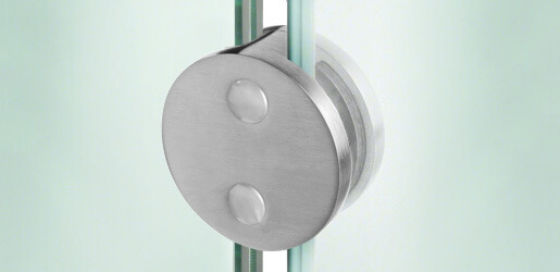 Stainless Steel Glass Clamps - Round Shaped
