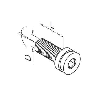 Adjustable Screw for Glass Clamp - Dimensions