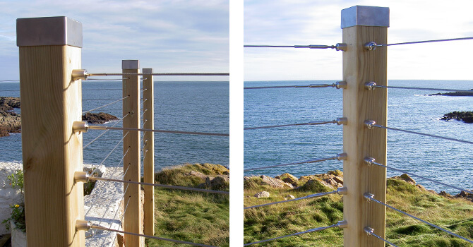 Marine grade stainless steel is ideal for coastal environments