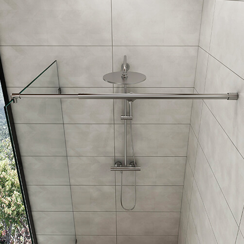 Shower Screen Support - Telescopic Arm - Wall Mount