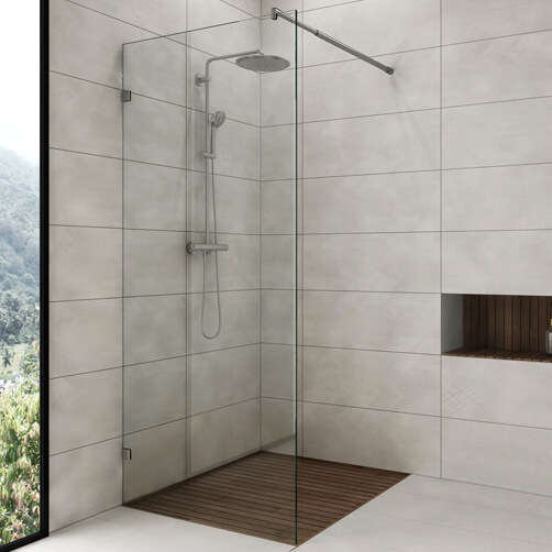 Glass Shower Screen Support - Telescopic Arm