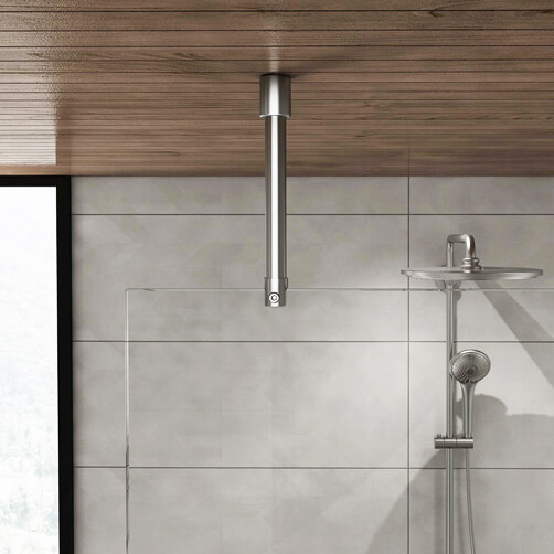 Shower Screen Support Arm - Ceiling to Glass - Tubular