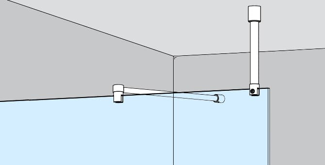 Ceiling Mount Shower Screen Support Arm