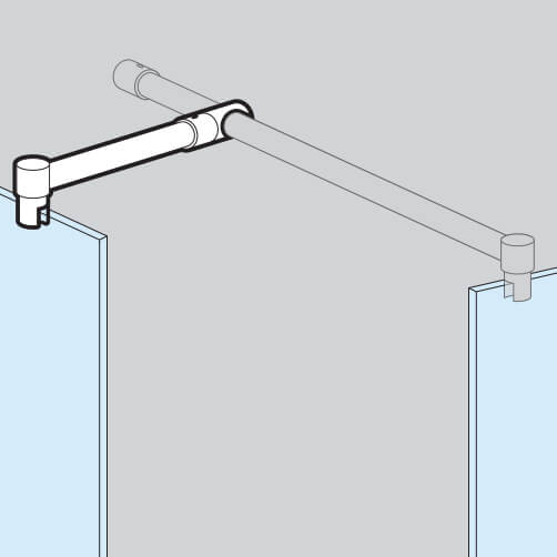 Shower Screen Support Arm - Position