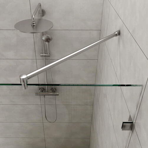 Shower Screen Support Arm - 45 Degree - Tubular