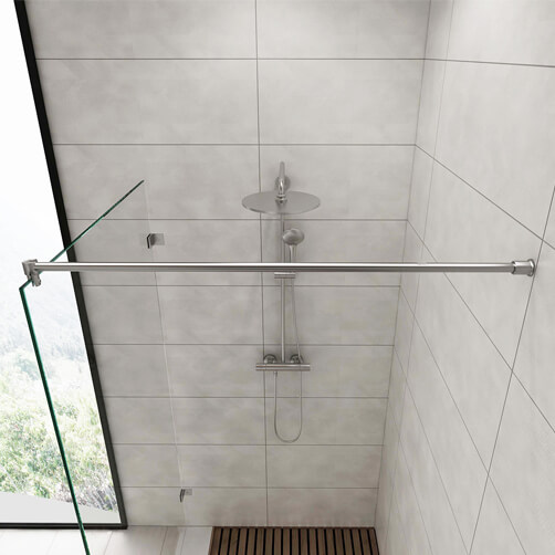 Shower Screen Support Arm - Wall to Glass - Tubular