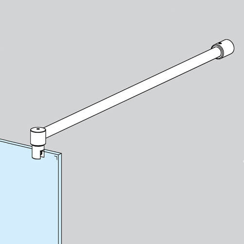 Wall to Glass Shower Screen Support Arm