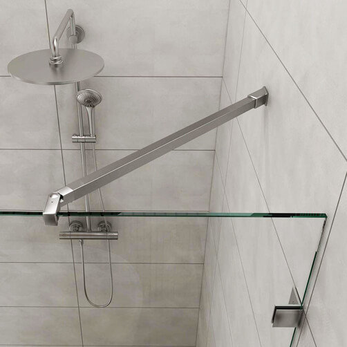 Shower Screen Support Arm - 45 Degree - Square