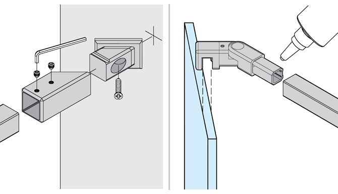 Angle Shower Support Arm Installation