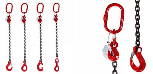 Lifting Chain Slings - Single Leg - Grade 80 and Grade 100
