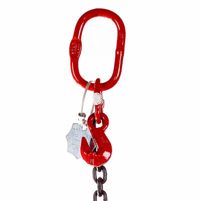 Single Leg Sling Master Link and Grab Hook - Grade 80