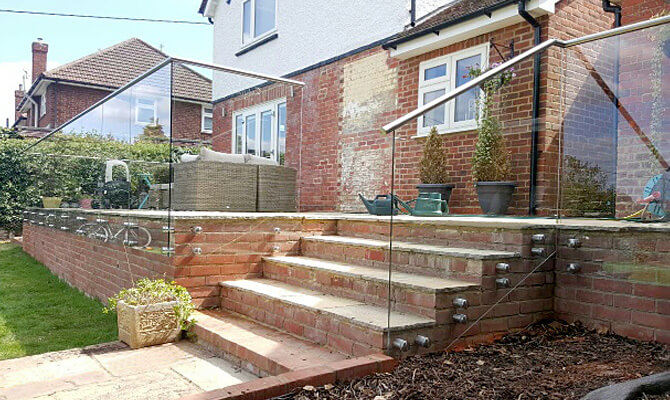 Glass Balustrade on Steps