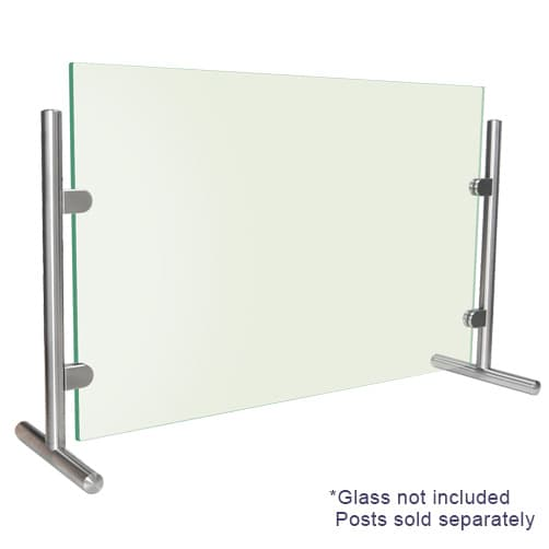 Sneeze Guard End Posts with Glass