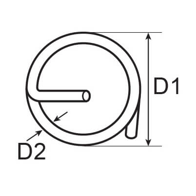 Stainless Steel Split Cotter Ring Diagram
