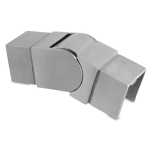 Square Downward Adjustable Handrail Connector For Glass Channel Balustrade