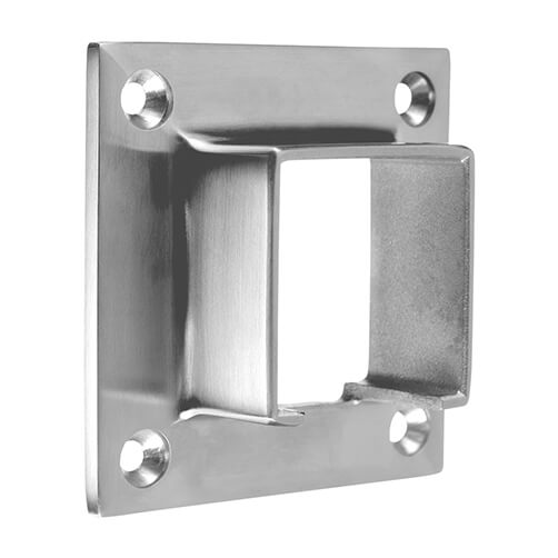 Square Wall Flange Connector For Glass Channel Balustrade