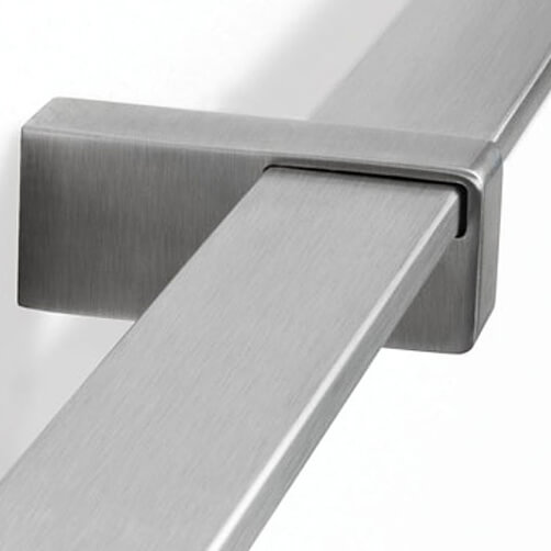 Square Handrail Flat Fixing Support Bracket Example