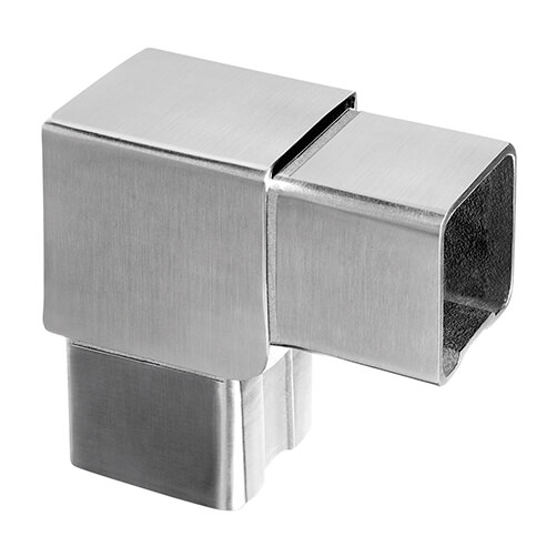 Square Line 90 Degree Flush Fit Tube Connector