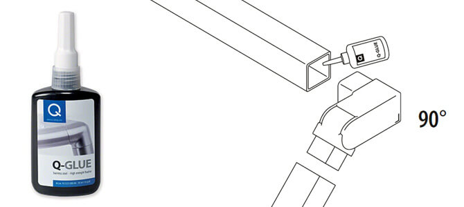 Adjustable Angle Connector - Right - Square Lines Balustrade System