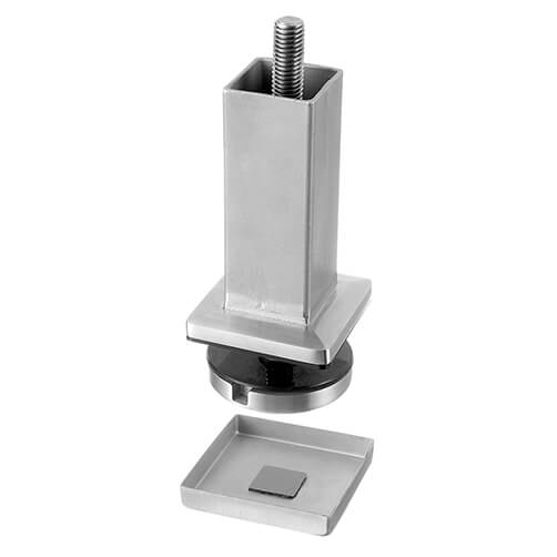 Stair Mount Stainless Steel Square Post Flange