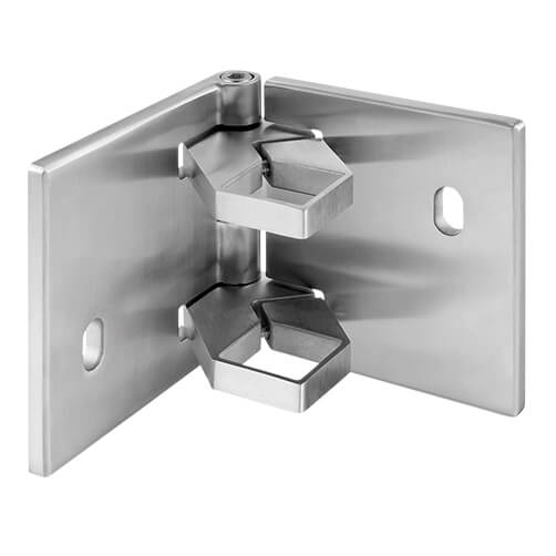 Square Stainless Steel Adjustable Baluster Mounting Bracket