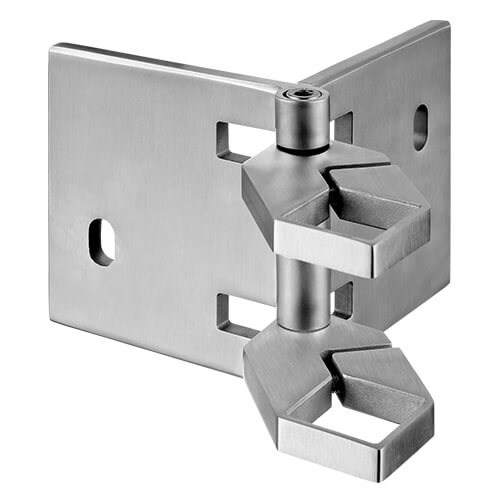 Stainless Steel Square Adjustable Corner Post Bracket
