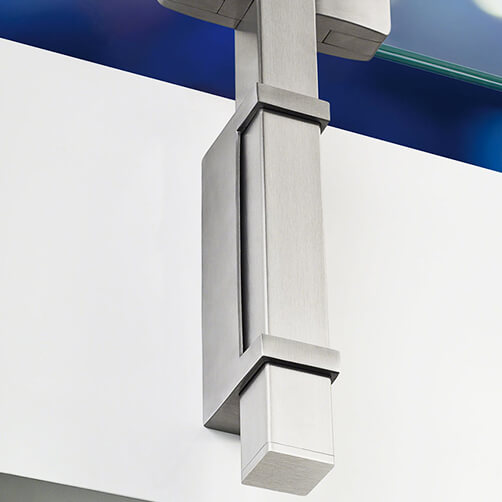 Stainless Steel Square Post Mounting Bracket