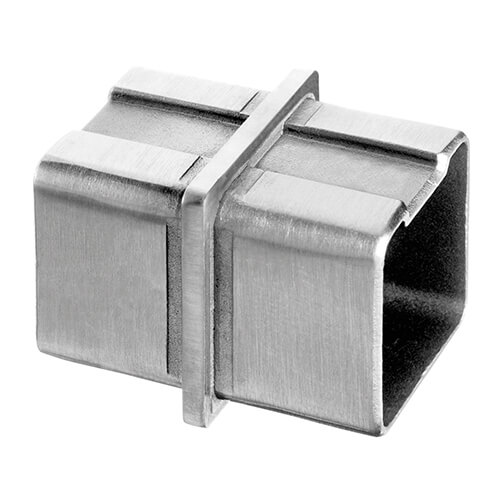 Stainless Steel In-Line Flush Square Tube Connector