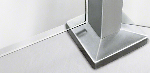 Square Baluster Base Cover Caps - Stainless Steel