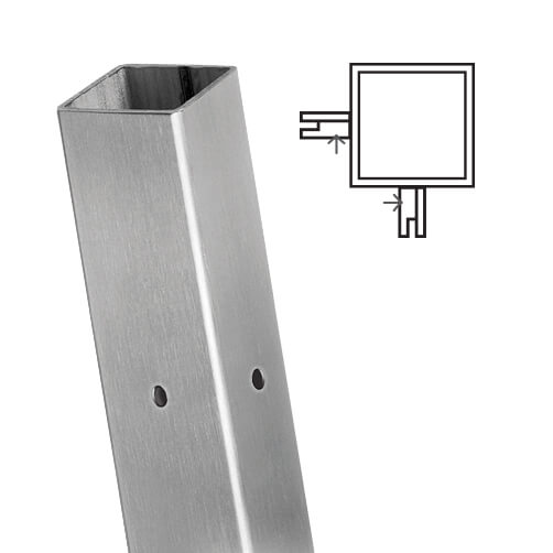 Square Stainless Steel Corner Post For Glass Balustrade
