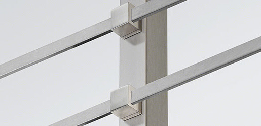 Square Balustrade Cross Bar Infill Adapters