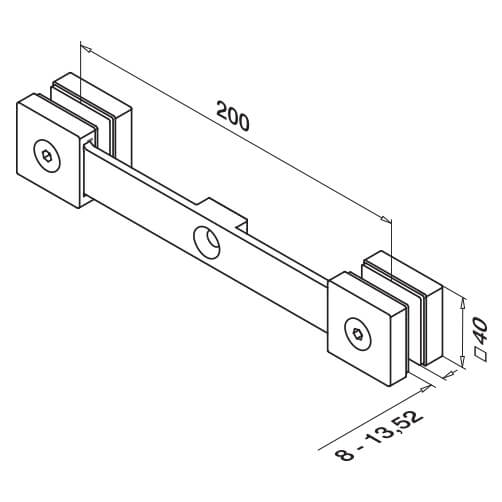 Glass Spider - Square Line - 2 Arm - Diagram