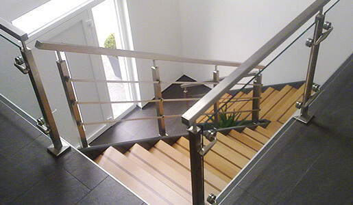 Square Line Stainless Steel Balustrade Installation
