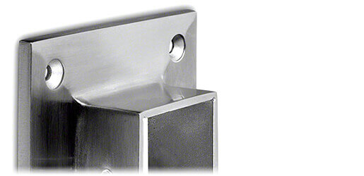 Square Wall Mount Flange Fixings - Stainless Steel