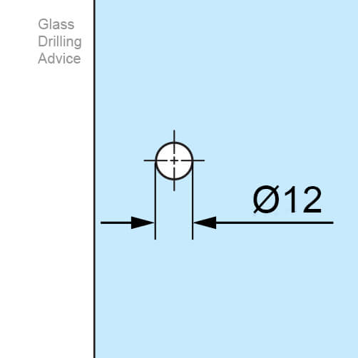Stainless Steel Door Knob - Model 102 - Glass Drilling
