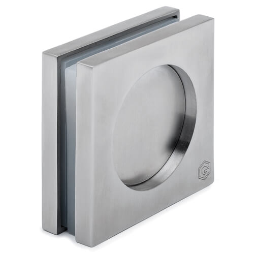 Recessed Door Grip - Square - Stainless Steel