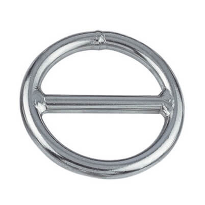 Stainless Steel Round Ring with Centre Cross Bar