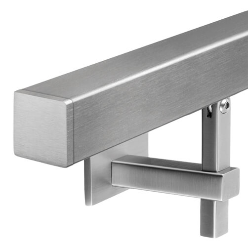 Stainless Steel Square Handrail With Adjustable Bracket